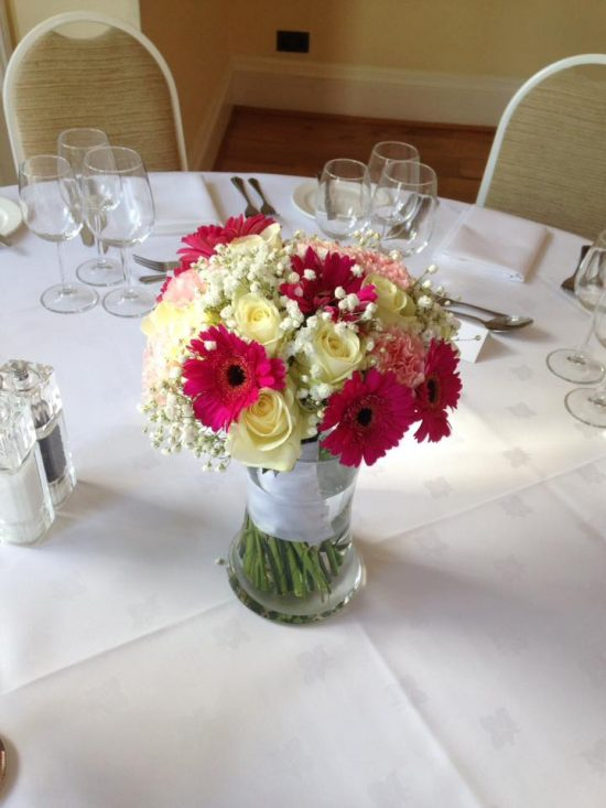 Table Centres Wedding bouquet vase