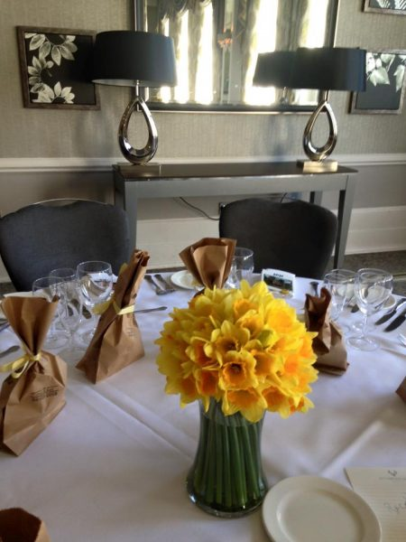 Daffodil Table Centres Wedding Event